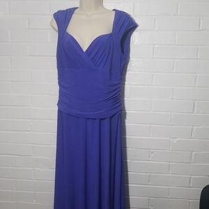 Chaps size Large blue dress with fitted waist